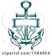 Clipart Green Anchor And Banner Royalty Free Vector Illustration