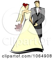 Clipart Newlywed Couple 2 Royalty Free Vector Illustration