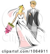 Clipart Newlywed Couple 1 Royalty Free Vector Illustration