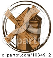 Clipart Windmill Logo 1 Royalty Free Vector Illustration by Vector Tradition SM