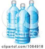 Clipart Blue Water Bottles Royalty Free Vector Illustration
