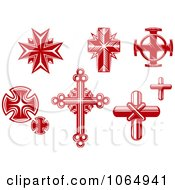 Clipart Red Crosses 1 Royalty Free Vector Illustration