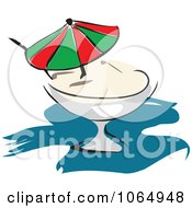 Clipart Pina Colada Royalty Free Vector Illustration