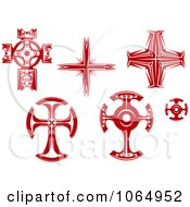 Clipart Red Crosses 2 Royalty Free Vector Illustration