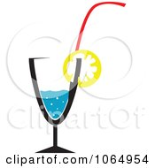 Clipart Sparkling Water And Lemon Royalty Free Vector Illustration
