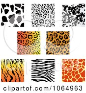 Clipart Jungle Animal Prints 2 Royalty Free Vector Illustration