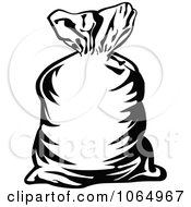 Clipart Money Bag Outline Royalty Free Vector Illustration by Vector Tradition SM