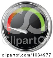 Clipart 3d Car Gas Gauge On Empty Royalty Free Vector Illustration