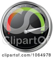 Clipart 3d Car Gas Gauge On Full Royalty Free Vector Illustration by elaineitalia