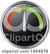 Clipart 3d Car Gas Gauge In The Middle Royalty Free Vector Illustration