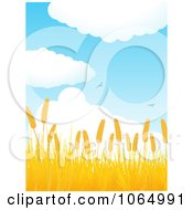 Clipart Birds Flying Over A Golden Wheat Field Royalty Free Vector Illustration by elaineitalia