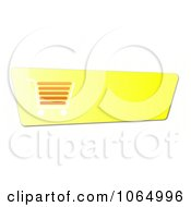 Clipart Yellow Checkout Cart Button Royalty Free CGI Illustration by oboy