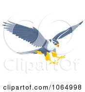 Clipart Falcon Reaching For Prey Royalty Free Illustration