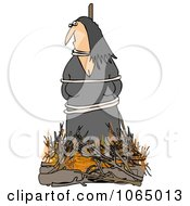 Clipart Witch Burning At The Stake Royalty Free Illustration