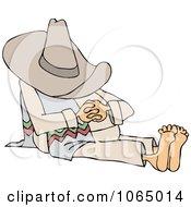 Clipart Man Taking A Siesta Royalty Free Vector Illustration
