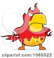 Clipart Mad Chubby Phoenix Royalty Free Vector Illustration