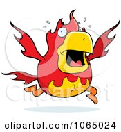 Clipart Chubby Phoenix Panicking Royalty Free Vector Illustration