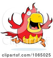 Clipart Chubby Phoenix Running Royalty Free Vector Illustration