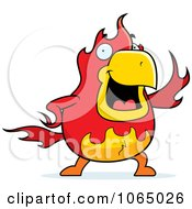 Clipart Chubby Phoenix Waving Royalty Free Vector Illustration