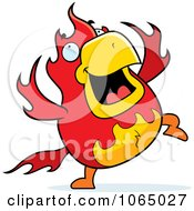 Clipart Chubby Phoenix Dancing Royalty Free Vector Illustration