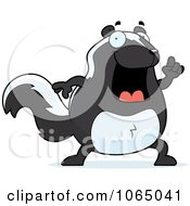 Clipart Chubby Skunk With An Idea Royalty Free Vector Illustration