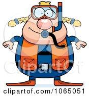 Chubby Female Scuba Diver