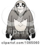 Clipart Standing Sloth Royalty Free Vector Illustration by Cory Thoman