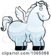 Clipart Chubby Pegasus Royalty Free Vector Illustration by Cory Thoman