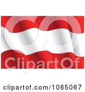 Clipart Waving Austria Flag Royalty Free Vector Illustration