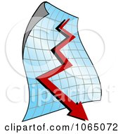 Clipart Decline Chart Royalty Free Vector Illustration