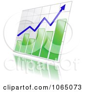 Clipart Bar Graph And Arrow 11 Royalty Free Vector Illustration