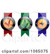 Clipart Ribbons Royalty Free Vector Illustration