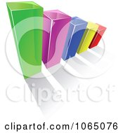 Clipart Bar Graph 3 Royalty Free Vector Illustration
