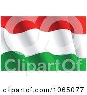 Clipart Waving Hungary Flag Royalty Free Vector Illustration