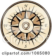 Clipart Compass Face 5 Royalty Free Vector Illustration