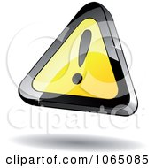 Clipart 3d Floating Warning Sign Royalty Free Vector Illustration by Vector Tradition SM