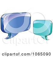Clipart 3d Shiny Chat Balloons 3 Royalty Free Vector Illustration