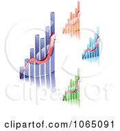 Clipart Bar Graphs 3 Royalty Free Vector Illustration