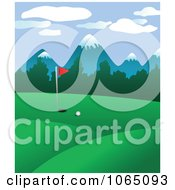 Clipart Golf Course 2 Royalty Free Vector Illustration