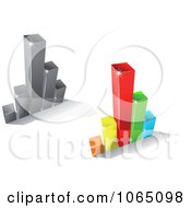 Clipart Bar Graphs 6 Royalty Free Vector Illustration