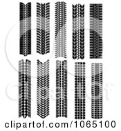 Clipart Tire Tread Marks 3 Royalty Free Vector Illustration by Vector Tradition SM