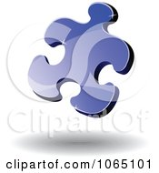 Poster, Art Print Of 3d Puzzle Piece 3- Royalty Free Vector Illustration