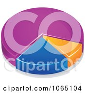 Clipart Colorful 3d Pie Chart 3 Royalty Free Vector Illustration