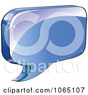 Clipart 3d Shiny Chat Balloon 1 Royalty Free Vector Illustration