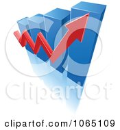 Clipart Bar Graph And Arrow 10 Royalty Free Vector Illustration