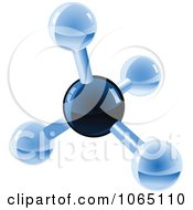 Clipart 3d Molecule 1 Royalty Free Vector Illustration