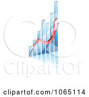 Clipart Bar Graph And Arrow 7 Royalty Free Vector Illustration