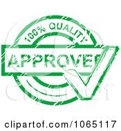 Green Quality Approved Stamp
