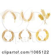 Clipart Laurel Wreath Of Grains Royalty Free Vector Illustration