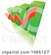 Clipart Bar Graph And Arrow 9 Royalty Free Vector Illustration